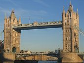 Tower Bridge In Central London.
