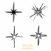 Vector Star . Retro Star . Star Background . Black Star . Star Sign . Star Symbol . Star Logo . Star poster