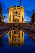 picture of console-mirror  - Church of Penha in Guimaraes Portugal - JPG
