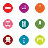 Soft Armchair Icons Set. Flat Set Of 9 Soft Armchair Icons For Web Isolated On White Background poster
