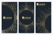 Chocolate Bar Packaging Set. Trendy Luxury Product Branding Template With Label Pattern For Packagin poster