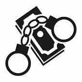 Bribery Money Handcuffs Icon. Simple Illustration Of Bribery Money Handcuffs Vector Icon For Web Des poster