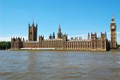The Houses of Parliament and the Big Ben in a clear day