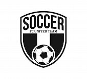 Soccer Football Crest Emblem Vector Logo Design Inspiration poster