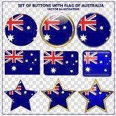 Bright Set Of Banners With Flag Of Australia. Happy Australia Day Illustration. Colorful Illustratio poster