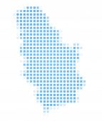 Serbia Map Square Mosaic poster