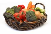 image of brussels sprouts  - vegetables on the basket - JPG