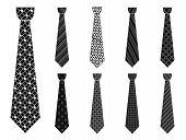 Elegant Tie Icon Set. Simple Set Of Elegant Tie Icons For Web Design Isolated On White Background poster