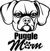 Animal Dog Puggle Rg6H Mom.eps poster