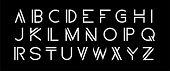 Vector Modern Set. Modern Abstract Font, Alphabet. poster