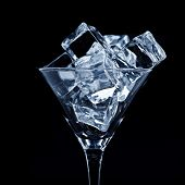 Martini glass with ice