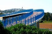Curved Blue Bridge