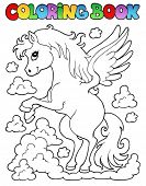 picture of pegasus  - Coloring book pegasus theme 1  - JPG