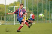 KAPOSVAR, HUNGARY - SEPTEMBER 1: Unidentified player in action at the Hungarian National Championshi