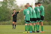 KAPOSVAR, HUNGARY - SEPTEMBER 1: Kaposvar players line up at the Hungarian National Championship und