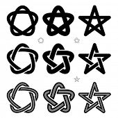 vector medieval Occult signs