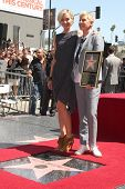 LOS ANGELES - SEP 4:  Portia DeRossi, Ellen DeGeneres at the Hollywood Walk of Fame Ceremony for Ell