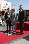 LOS ANGELES - SEP 4:  Ryan Seacrest, Ellen DeGeneres, Jimmy Kimmel at the Hollywood Walk of Fame Cer