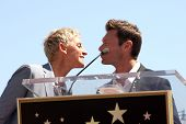 LOS ANGELES - SEP 4:  Ellen DeGeneres, Ryan Seacrest at the Hollywood Walk of Fame Ceremony for Elle