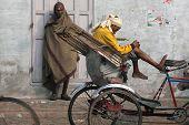 rickshaw wallahs in Varanasi, India