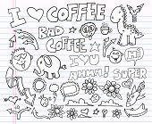 Notebook Doodle Clip art Design Elements Vector Illustration Set