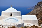 White church in Aegean Islands