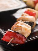 Yakitori Skewer With Sukiyaki Sauce poster