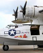 PILSEN, CZECH REPUBLIC - AUGUST 25: American sea plane Consolidated PBY-5A Catalina