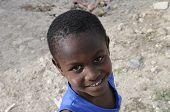 Smiling Haitian kid.