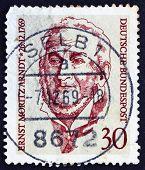 Briefmarke Deutschland 1969 Ernst Moritz Arndt, deutscher Historiker
