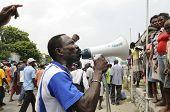 An Haitian on microphone