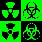 Warning Sign Of Radiation And Biohazard