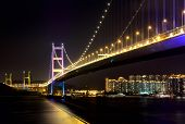 stock photo of tsing ma bridge  - Tsing Ma Bridge at Hongkong - JPG