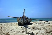 boats resting in the Mpu Rancak beach,