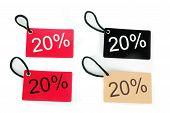 Four Types Of Twenty-five Percent Paper Tag I