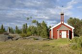 A little red Chapel.