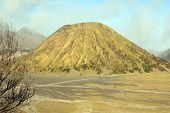 stock photo of bator  - Cone of vulcano Bator near Bromo Java Indonesia