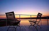 picture of southern  - Colourful sunrise from the deck of a riverboat on the Chobe river between Botswana and Namibia in Southern Africa - JPG