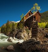 Crystal Mill, or Lost Horse Mill, is an old wooden power house which had a waterwheel that used to d