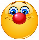 Emoticon mit Clown Nase