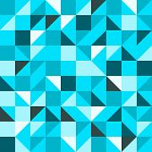 Blue Seamless Triangle Pattern