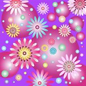 Abstract Lilas Gentle Floral Background poster