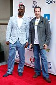 NEW YORK-MAY 30: New York Giants player Justin Tuck (L) and Subway personality Jared Fogle attend th