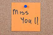 sticky note With Miss You