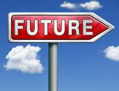 pic of indications  - bright future ahead road sign indicating direction to planning a happy future having a good plan button icon red road sign arrow with text and word concept - JPG