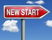 new start restart new fresh beginning try again button icon red road sign arrow
