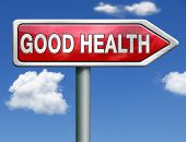 good health and vitality energy healthy mind and body icon button red road sign arrow with text and word concept