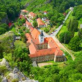 Saint John under the Cliff (Svaty Jan pod Skalou) Medieval village with monastery built over a myste