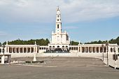 The religious center in the small city of Fatima in Portugal. The obelisk costs on that place where