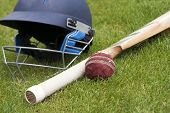 image of cricket bat  - Cricket ball - JPG